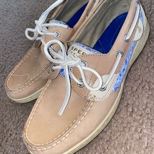 Sperry Bluefish 3-Eye Sequined Boat Shoe SZ 7